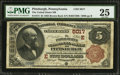 National Bank Notes:Pennsylvania, Pittsburgh, PA - $5 1882 Brown Back Fr. 474 The United States NBCh. # (E)5017. ...
