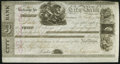 Canadian Currency: , Montreal, PQ- City Bank £100 July 28, 1846. ...