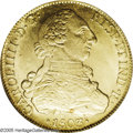Chile: , Chile: Carlos IIII gold 8 Escudos 1803-FJ, KM54, MS63 PCGS, asuperb coin with incredible glowing luster and immediate eyeappeal. ...