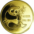 China: , China: People's Republic. 1 Ounce Gold Panda 1982, KM-MB11, Gem, prooflike BU in original plastic packaging. First year of issue....