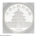 China: , China: People's Republic. 1 Ounce Platinum Panda 1989, KM-Y191a, Gem, prooflike BU in the original plastic packaging. Identical to ...