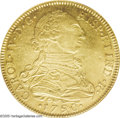 Colombia: , Colombia: Carlos IV gold 8 Escudos 1790NR-JJ, KM53.1, MS63 NGC,full glowing mint luster, bold details and no distracting flaws -this...