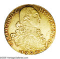 Colombia: , Colombia: Charles IIII gold 8 Escudos 1798 NR-JJ, KM62.1, XF withsome remaining luster. It should be noted that this piece is fromth...