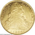 Colombia: , Colombia: Ferdinand VII gold 8 Escudos 1815NR-JF, KM66.1, MS64PCGS, an incredible coin with full blasting mint luster and veryfew co...