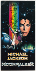 Music Memorabilia:Autographs and Signed Items, Michael Jackson Signed Moonwalker Promo Poster....