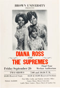 Music Memorabilia:Posters, Diana Ross and the Supremes Meehan Auditorium Concert Poster (circa1969)....