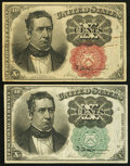 Fractional Currency:Fifth Issue, 10¢ Fifth Issue Fractionals.. Fr. 1264 About New;. Fr. 1266XF-About New.. ... (Total: 2 notes)