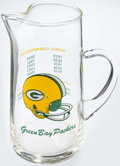 Football Collectibles:Others, Vintage Green Bay Packers Glass Pitcher....