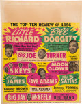 Music Memorabilia:Posters, Little Richard/Big Joe Turner Top Ten Review Concert Poster (1956).Extremely Rare....
