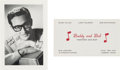 Music Memorabilia:Memorabilia, Buddy Holly - Buddy and Bob Business Card and Fan Club Card (1950s)....