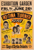 Music Memorabilia:Posters, Ike & Tina Turner Revue Exhibition Garden Concert Poster(1964). Very Rare....