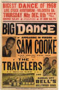 Music Memorabilia:Posters, Sam Cooke Live Stock Auditorium Concert Poster (1958). Extremely Rare....