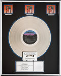 Music Memorabilia:Awards, Whitney Houston RIAA (3x) Platinum Album Sales Award (AristaAL 8-8212, 1985). ...