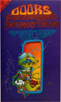 Music Memorabilia:Posters, Doors Denver Dog Concert Poster FDD-18 Signed By Three Of The DoorsAnd Rick Griffin (Family Dog, 1967)....