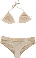 Movie/TV Memorabilia:Costumes, A Farrah Fawcett Gucci Bikini, 1990s....