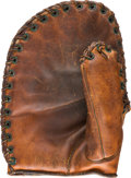 Baseball Collectibles:Others, Circa 1943 Hal Trosky Signature Model First Baseman's Glove with EdBarrow Signed Letter....