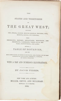 Jacob Ferris. The States and Territories of The Great West; Including Ohio, Indiana, Illinois, Missouri, Michig