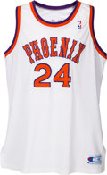 Basketball Collectibles:Uniforms, 1990-91 Tom Chambers Game Worn Phoenix Suns Jersey....