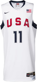 Basketball Collectibles:Uniforms, 2008 Dwight Howard Game Worn USA International Challenge Jersey -Used 8/3 vs. Russia....