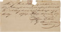 Autographs, Samuel May Williams Autograph Document Signed on Behalf of Stephen Austin. ...