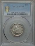 1875 20C XF40 PCGS Secure. PCGS Population: (61/603 and 0/4+). NGC Census: (20/415 and 0/1+). CDN: $400 Whsle. Bid for p...