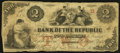 Obsoletes By State:Rhode Island, Providence, RI- Bank of the Republic $2 Oct. 20, 1855. ...