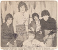 Music Memorabilia:Autographs and Signed Items, Rolling Stones Signed Newspaper Photo (Circa 1965). ...