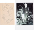 Music Memorabilia:Autographs and Signed Items, Rolling Stones Signatures on Paper Sheet (Toronto, Canada, October31, 1965). ...