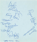 Music Memorabilia:Autographs and Signed Items, Davie Jones (David Bowie) and the King Bees / The AnimalsSignatures on an Album Page (1964). ...