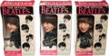 Music Memorabilia:Toys, Beatles - Group of Three Remco Dolls in Original Boxes (US,1964)....