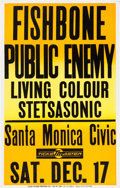 Music Memorabilia:Posters, Public Enemy/Stetsasonic Santa Monica Civic Auditorium ConcertPoster (1988)....