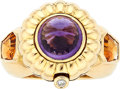Estate Jewelry:Rings, Multi-Stone, Diamond, Gold Ring. ... (Total: 2 Items)