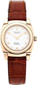 Estate Jewelry:Watches, Rolex Lady's Pink Gold Cellini Watch, circa 1999. ...