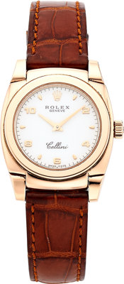 Rolex Lady's Pink Gold Cellini Watch, circa 1999
