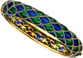 Estate Jewelry:Bracelets, Plique-à-Jour Enamel, Gold Bracelet. ...