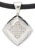 Estate Jewelry:Pendants and Lockets, Diamond, White Gold Pendant-Necklace, Bvlgari. ...
