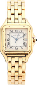 Estate Jewelry:Watches, Cartier Unisex Gold Panther Watch. ...