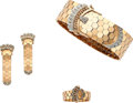 Estate Jewelry:Suites, Diamond, Gold Jewelry Suite. ... (Total: 4 Items)