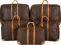 "Luxury Accessories:Travel/Trunks, Louis Vuitton Set of Five; Classic Monogram Canvas Travel Bags.Good to Very Good Condition. 28"" Width x 19"" Height x 7"" D...(Total: 5 Items)"