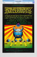 Music Memorabilia:Posters, Iron Butterfly Fillmore West Concert Poster BG-141 Signed by VictorMoscoso CGC 9.6 (Bill Graham, 1968)....