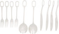 """Luxury Accessories:Home, Hermes Stainless Steel Attelage Flatware Set. PristineCondition. 2.5"""" Width x 10"""" Length. 1"""" Width x 9"""" Length. 1"""" Width... (Total: 10 Items)"""