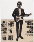 Music Memorabilia:Posters, Bob Dylan Promotional Stand-Up Counter Display (Columbia Records,1965). Very Rare....