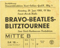 Music Memorabilia:Tickets, Beatles - Hamburg Ernst Merck Halle Concert Ticket Stub (1966), Their Last-Ever Concert in Hamburg....