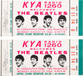 Music Memorabilia:Tickets, Beatles - Pair of San Francisco Candlestick Park Unused ConcertTickets (1966). ...