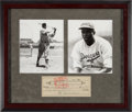 Baseball Collectibles:Others, 1957 Jackie Robinson Signed Check Display. ...