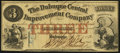 Obsoletes By State:Iowa, Dubuque, IA- Dubuque Central Improvement Company $3 Feb. 1, 1858....