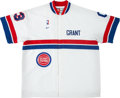 Basketball Collectibles:Uniforms, 1998-99 Grant Hill Game Worn Detroit Pistons Warmup Jacket....