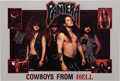 "Music Memorabilia:Autographs and Signed Items, Pantera Signed ""Cowboys from Hell"" Poster (1990)...."