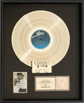 "Music Memorabilia:Awards, Michael Jackson ""Remember the Time"" RIAA Gold Record Award (Epic 4974201, 1991)...."
