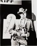 Movie/TV Memorabilia:Autographs and Signed Items, A Marlon Brando Signed Black and White Photo....